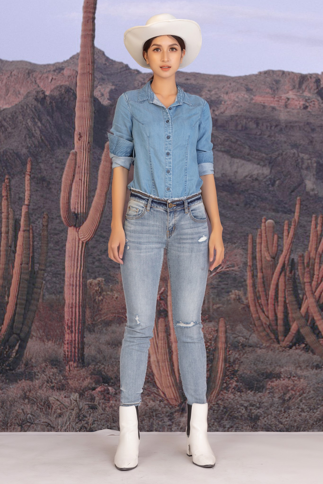 Quần jean nữ dáng skinny - 319WD2091F1910