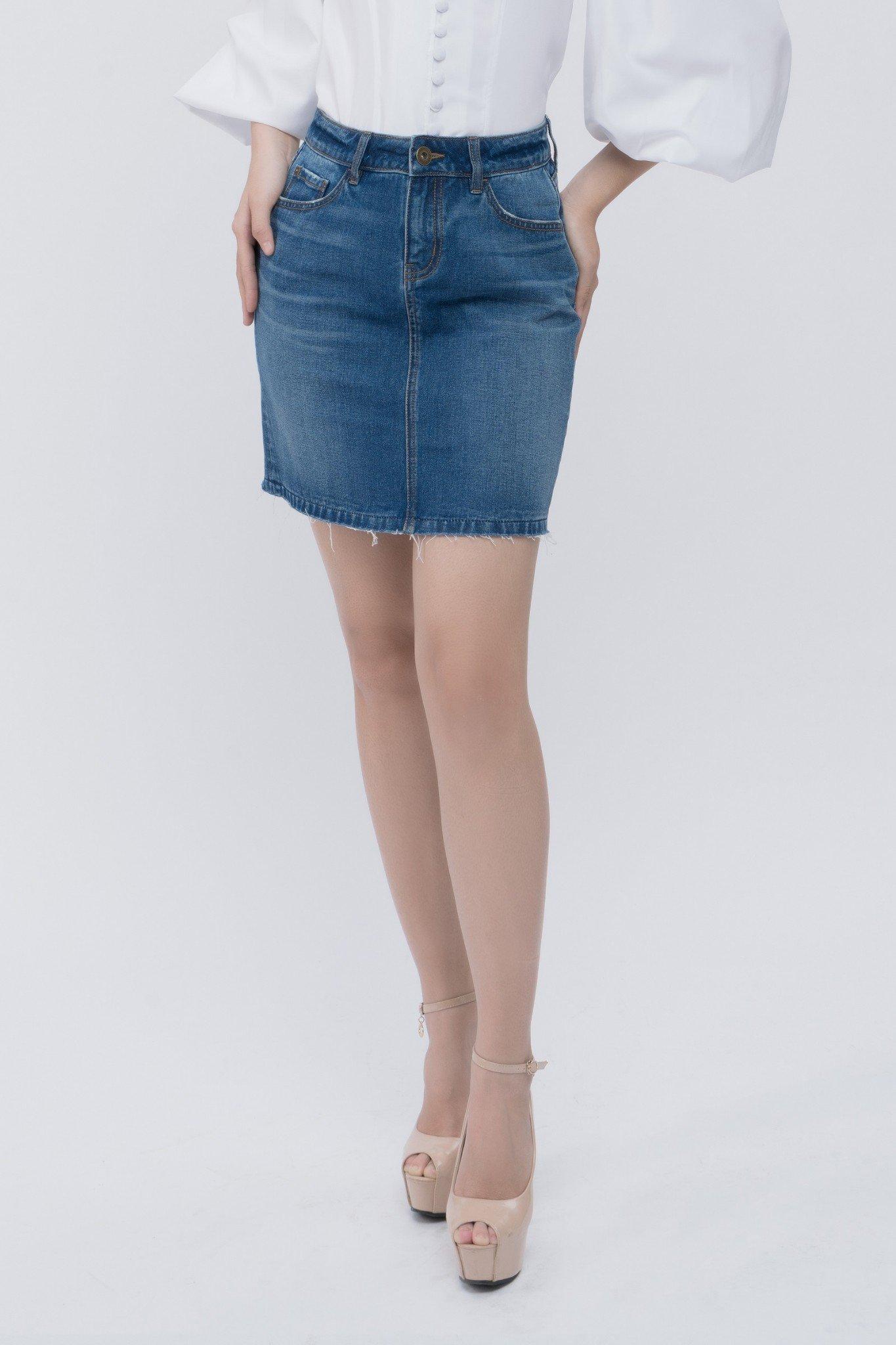 Chân váy jean dáng ôm- 319WD2113B1950