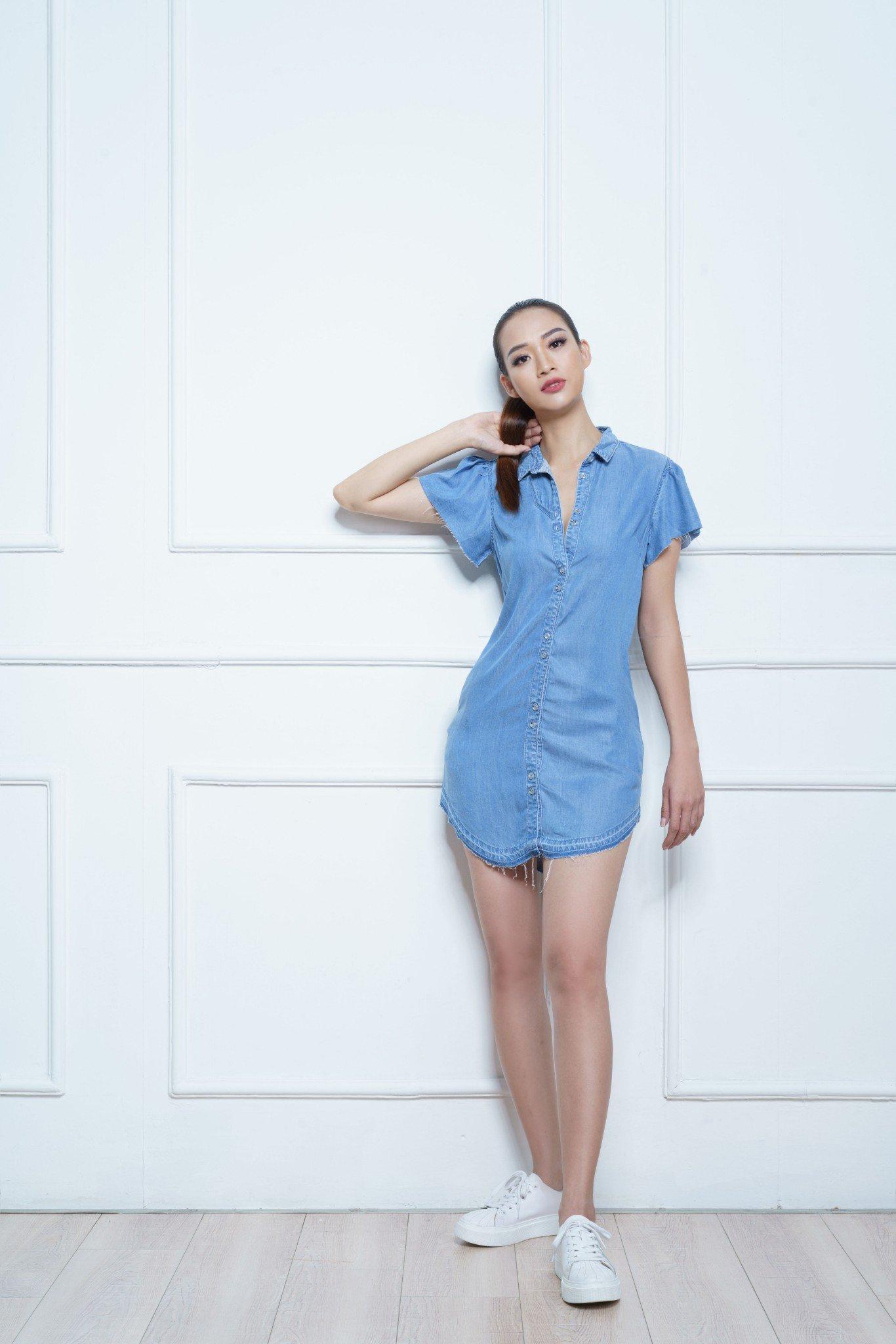 Đầm jean nữ dáng suông- 119WD2125F1910