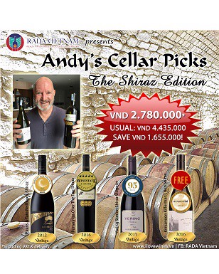 Mixed Case of 4 Andy's Shiraz Cellar Picks