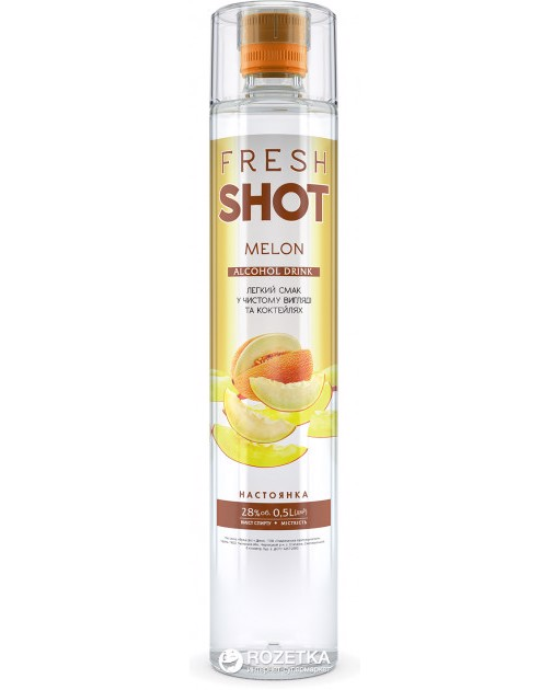 Fresh Shot Melon Ukrainian Spirits 500ml 28%