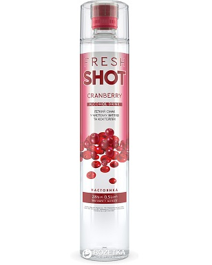 Rượu Hoa Quả Ukraina Fresh Shot Nam Việt Quất 500ml 28%