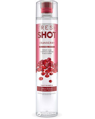 Fresh Shot Cranberry Ukrainian Spirits 500ml 28%