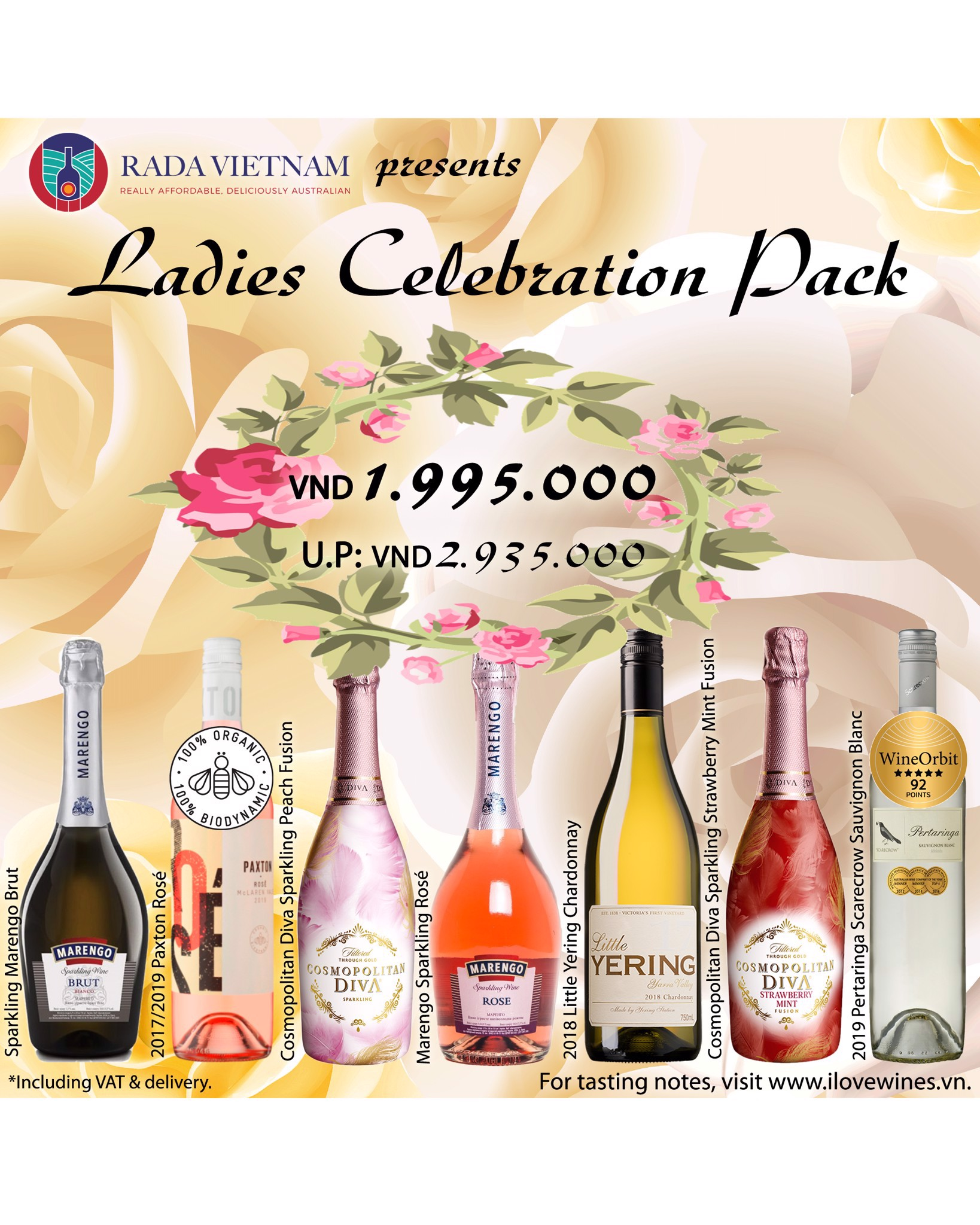 Ladies Celebration Pack With 7 Wines