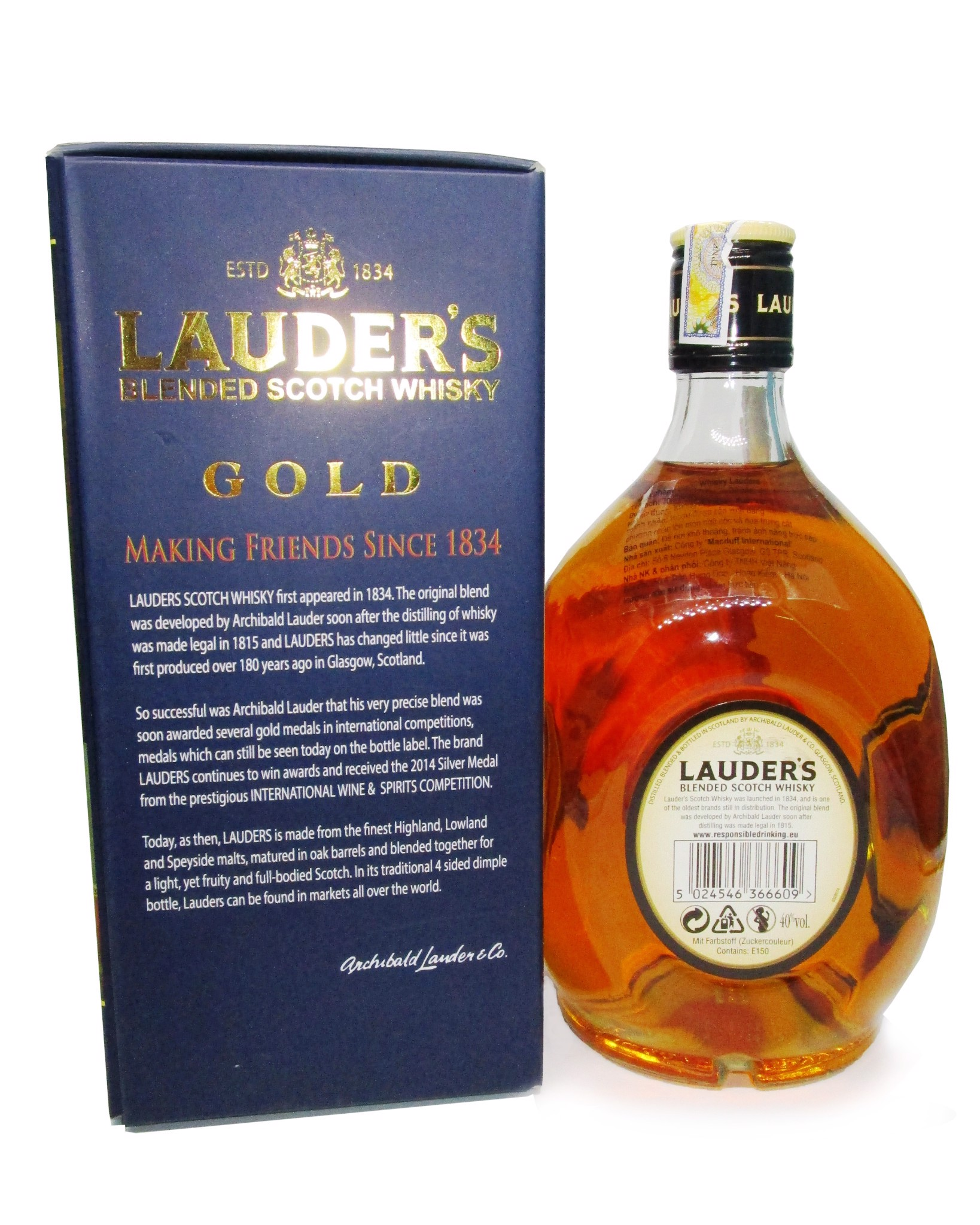Whisky Scotland Lauder's Finest vị Vanilla 700ml 40%