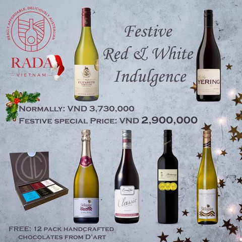 Festive Red & White Indulgence with RADA and D'Art Chocolates.