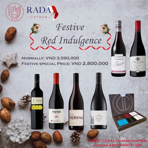 Festive Red Indulgence with RADA and D'Art Chocolates.