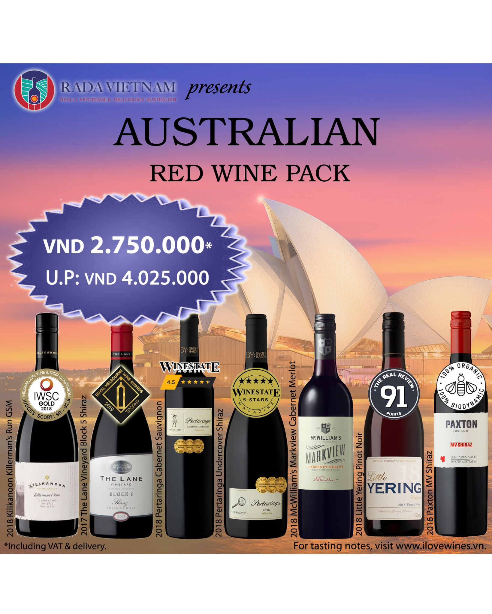 Mixed Case of 7 Australian Red Wines