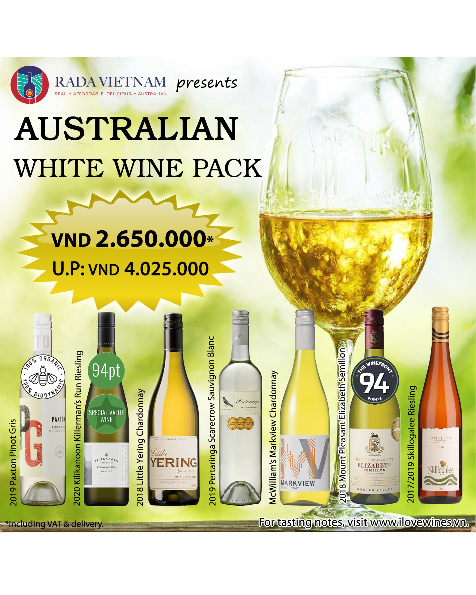 Mixed Case of 7 Australian White Wines