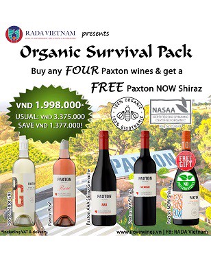 Mixed Case of 5 Australian Organic Paxton Wines