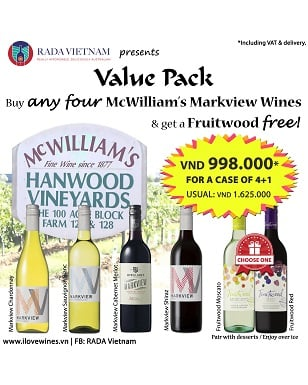 Value Pack of 5 McWilliam's Wines