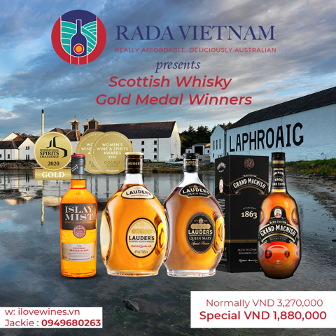 Scottish Whisky Gold Medal Winners