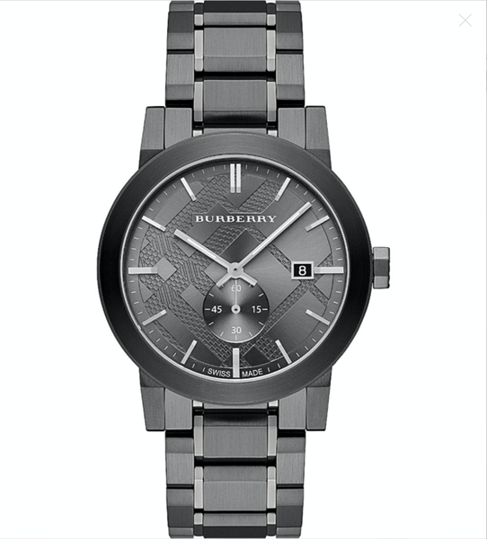 Đồng Hồ Burberry The City Gunmetal Dial Steel BU9902, 42mm