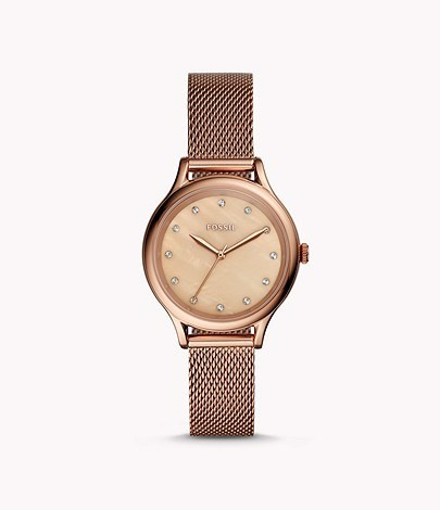 Đồng Hồ Fossil Laney Three-Hand Rose Gold-Tone BQ3392, 34mm