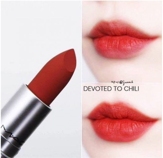 Son MAC Powder Kiss Lipstick Devoted To Chili, Limited Edition 3g