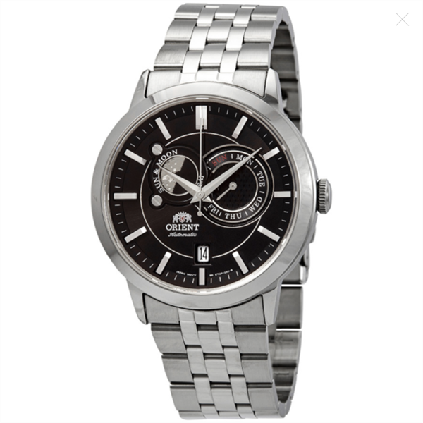 Đồng Hồ Nam ORIENT Sun and Moon Automatic Black Dial FET0P002B0, 41.5mm