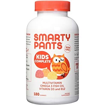 Kẹo dẻo SMARTY PANTS Multivitamin Omega 3, D3 And Choline, 180 Gummies