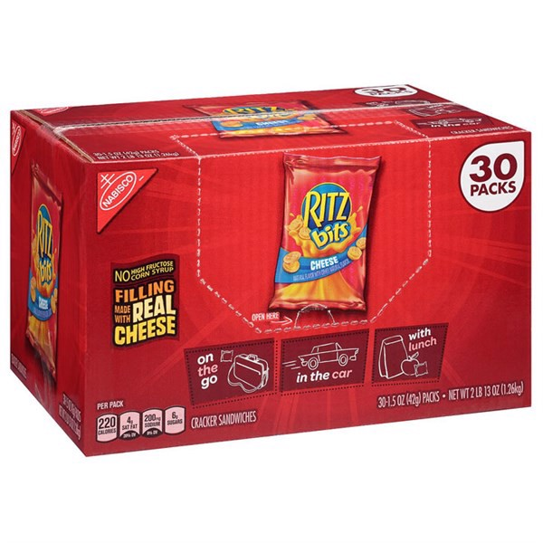 Bánh NABISCO Ritz Bits Cheese, 30 gói x 42g