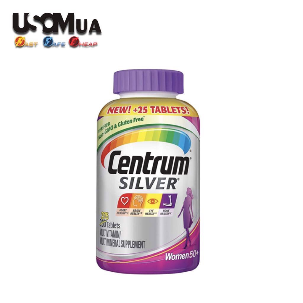 TPCN Centrum Silver Multivitamin / Multimineral Supplement Women 50+, 275 Viên