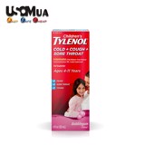 TPCN Children's Tylenol Cold + Cough + Sore Throat Ages 4-11 Years, Bubble Gum Flavor, 120ml