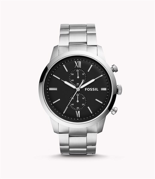 Đồng Hồ Fossil Townsman Chronograph Silver-Tone, 48mm