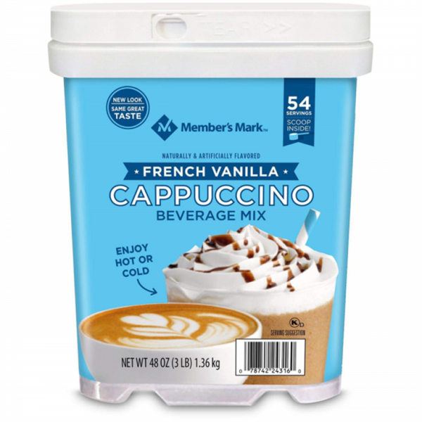 Bột Cappuccino MEMBER'S MARK French Vanilla Beverage Mix, 1.36kg