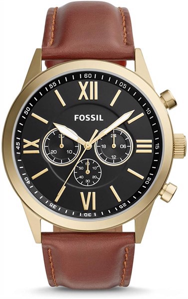 Đồng Hồ Nam Fossil Flynn Chronograph Brown Leather Watch BQ2261, 48mm