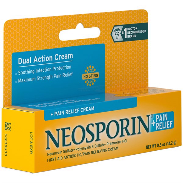 Kem Trị Sẹo Neosporin + Pain Relief Dual Action Cream