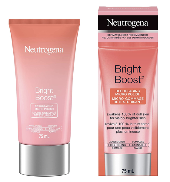 Kem Tẩy Tế Bào Chết Neutrogena Bright Boost Resurfacing Micro Polish, 75ml
