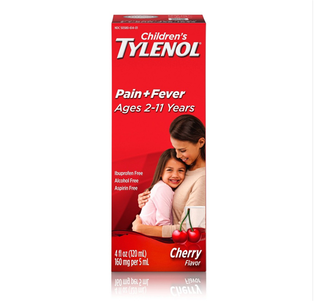 TPCN Children's Tylenol Pain + Fever Ages 2-11 Years Dry-Free, Cherry Flavor, 120ml