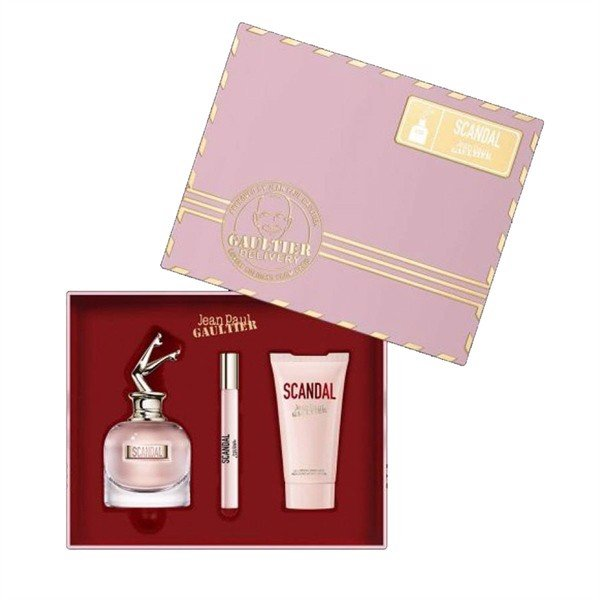 Set Nước Hoa JEAN PAUL GAULTIER Scandal Edp 80ml + Body Lotion 75ml + Edp 10ml