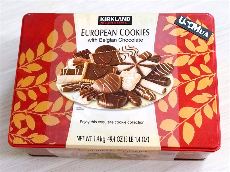 Bánh Quy Kirkland Signature European Cookies with Belgian Chocolate, 1.4kg