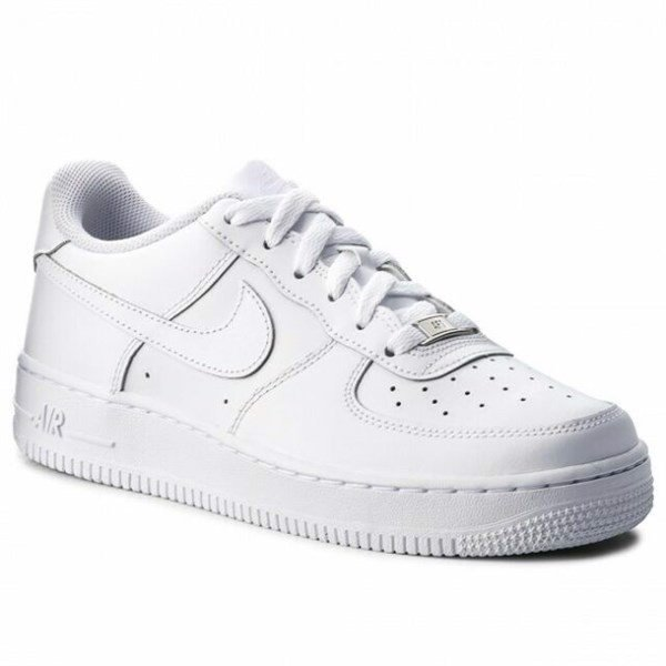 Giày NIKE Air Force 1 GS White Trainers, Size 37.5, 314192 117