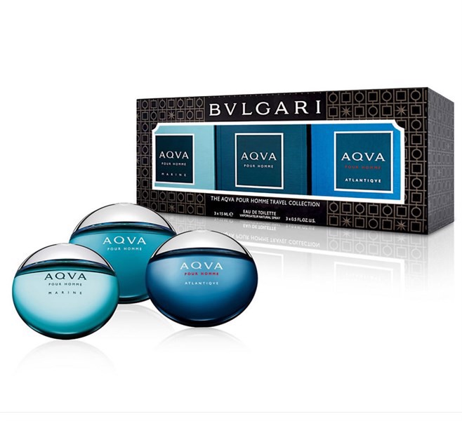 Set BVLGARI Aqua Pour Homme Travel Collection Eau De Toilette, 3 x 15ml