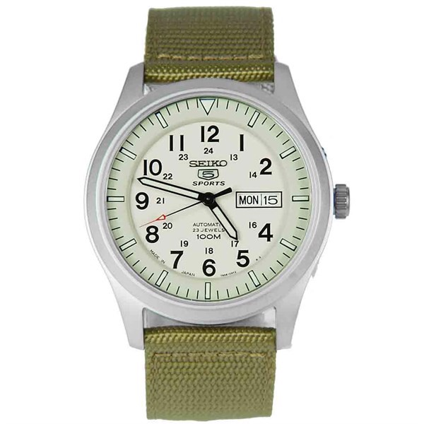 Đồng Hồ SEIKO 5 Military Sport Automatic Cream Dial SNZG07, 42mm