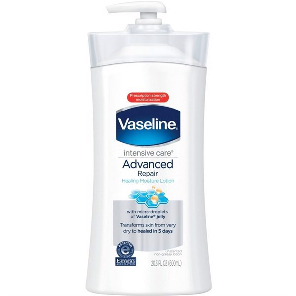 Lotion Vaseline Intensive Care Advanced Repair Unscented Healing Moisture, 600ml