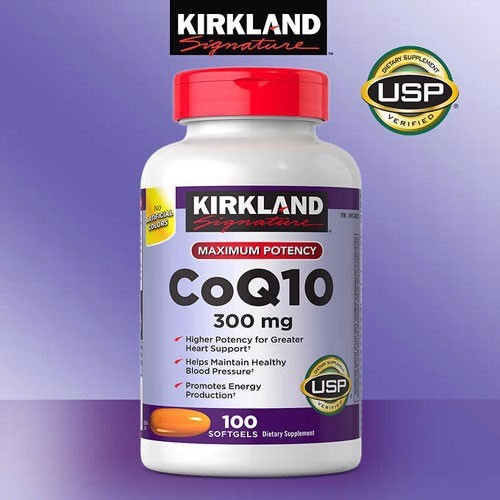 TPCN Kirkland Maximum Potency CoQ10 300mg, 100 Softgels