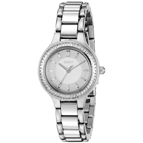 Đồng Hồ Nữ DKNY Chambers Silver Dial Stainless Steel NY2391, 28mm