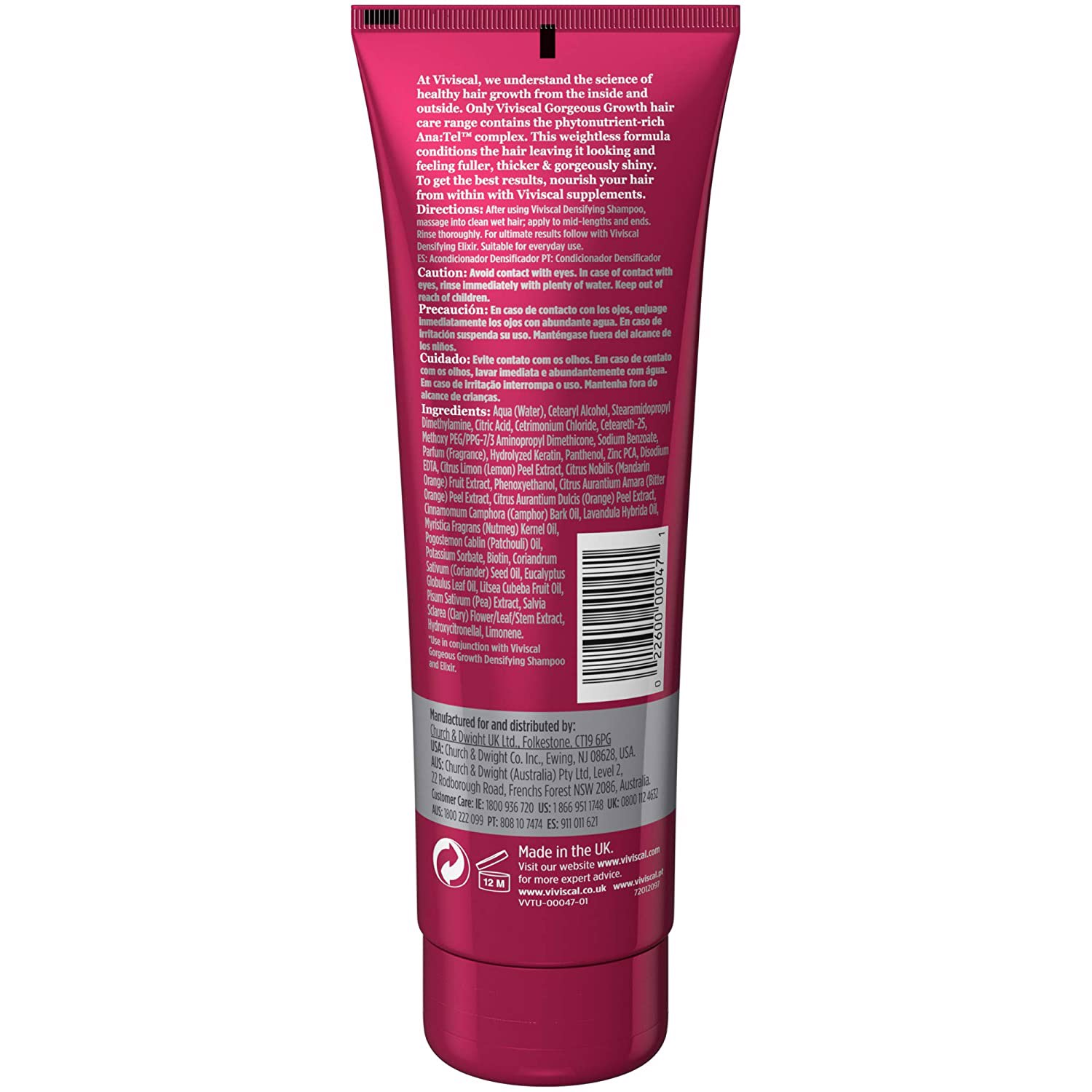 Dầu Xả VIVISCAL Gorgeous Growth Densifying Conditioner, 250ml