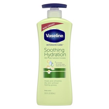 Body Lotion Vaseline Intensive Care Soothing Hydration With Triple Hydration Complex, 600ml