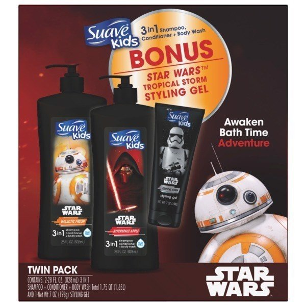 Set Tắm Gội Suave Kid's Star War, Twin Pack Bonus