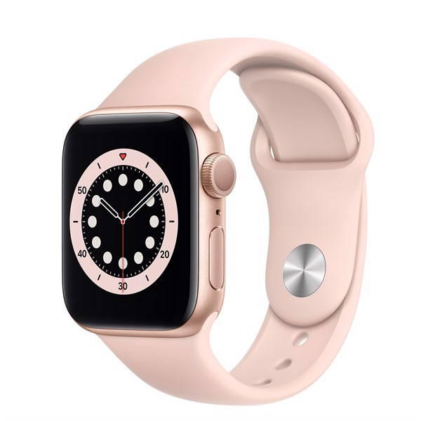 Apple Watch Series 6 (GPS) 40mm, Gold/Pink, Sport Band