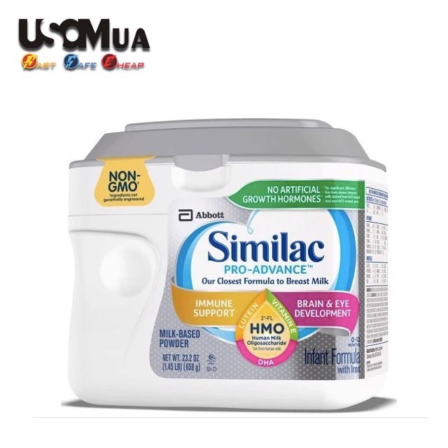 Sữa Similac PRO-ADVANCE Non-GMO With 2'-FL HMO Infant Formula, 0-12 Months