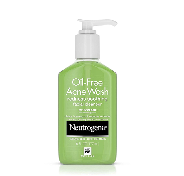 Sữa Rửa Mặt Neutrogena Oil-Free Acne Wash Redness Soothing Facial, 177ml