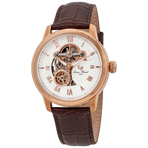 Đồng Hồ Nam LUCIEN PICCARD Optima Open Heart Automatic LP-12524-RG-02-BRW, 46mm