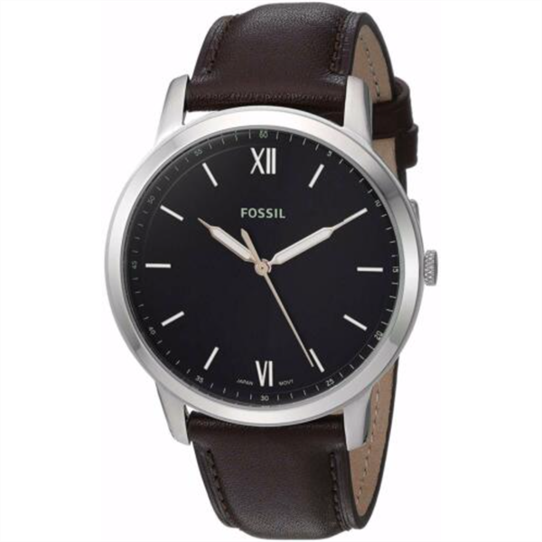 Đồng Hồ Nam Fossil The Minimalist Three-Hand Brown Leather FS5464, 44mm