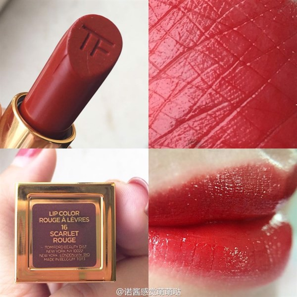 Son Tom Ford Lip Color Rouge À Lèvres 16 Scarlet Rouge, Limited Edition 3g