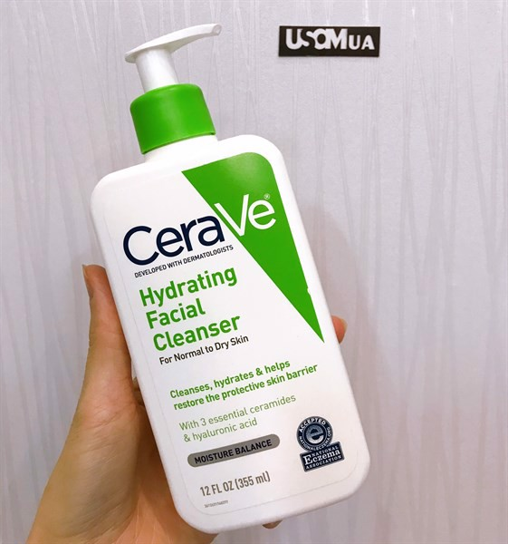 Sữa Rửa Mặt Cerave Hydrating Facial Cleanser For Normal To Dry Skin, 355ml