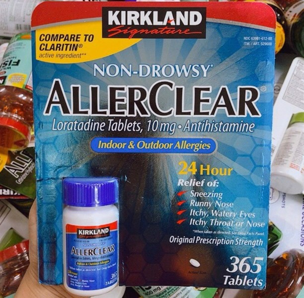TPCN Hỗ Trợ Chống Dị Ứng 24 Giờ Kirkland Signature Aller Clear, 365 Tablets