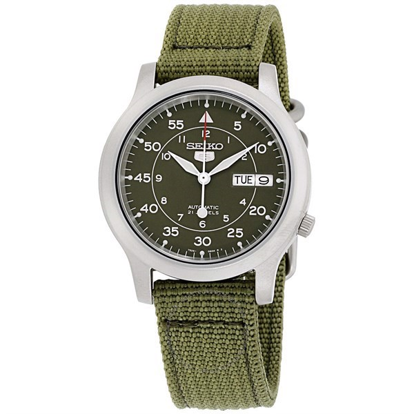 Đồng Hồ Nam SEIKO 5 Military Green Dial Automatic SNK805K2, 36mm
